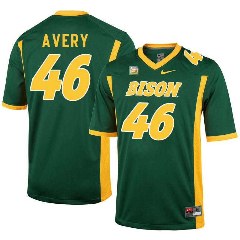 Men #46 Austin Avery North Dakota State Bison College Football Jerseys Sale-Green