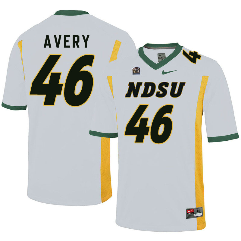 Men #46 Austin Avery North Dakota State Bison College Football Jerseys Sale-White