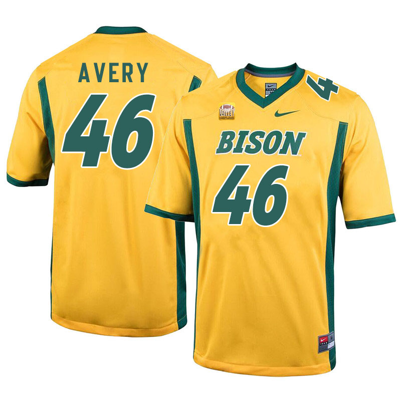 Men #46 Austin Avery North Dakota State Bison College Football Jerseys Sale-Yellow