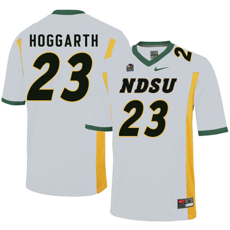 Men #23 Ben Hoggarth North Dakota State Bison College Football Jerseys Sale-White