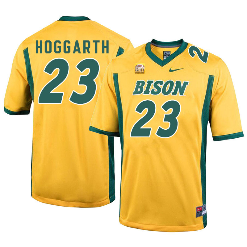 Men #23 Ben Hoggarth North Dakota State Bison College Football Jerseys Sale-Yellow
