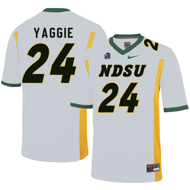 Men #24 Carson Yaggie North Dakota State Bison College Football Jerseys Sale-White