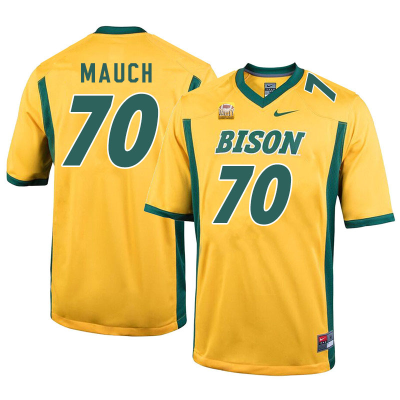 Men #70 Cody Mauch North Dakota State Bison College Football Jerseys Sale-Yellow