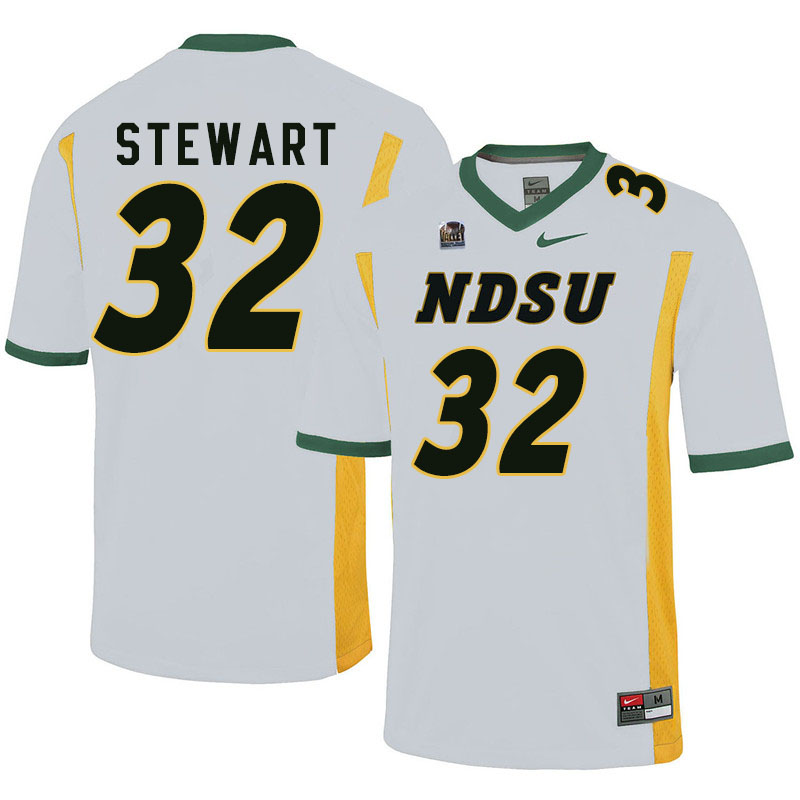 Men #32 DJ Stewart North Dakota State Bison College Football Jerseys Sale-White