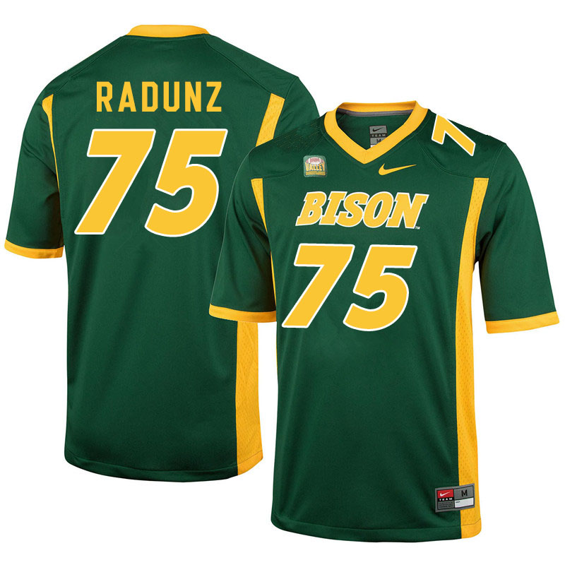 Men #75 Dillon Radunz North Dakota State Bison College Football Jerseys Sale-Green