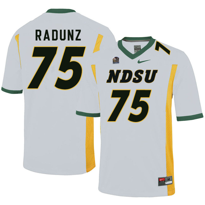 Men #75 Dillon Radunz North Dakota State Bison College Football Jerseys Sale-White