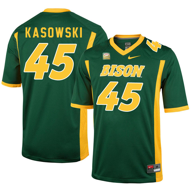 Men #45 Dustin Kasowski North Dakota State Bison College Football Jerseys Sale-Green