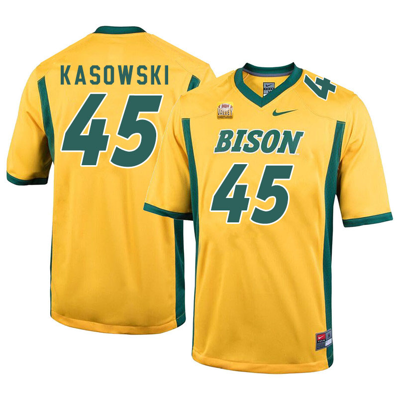 Men #45 Dustin Kasowski North Dakota State Bison College Football Jerseys Sale-Yellow