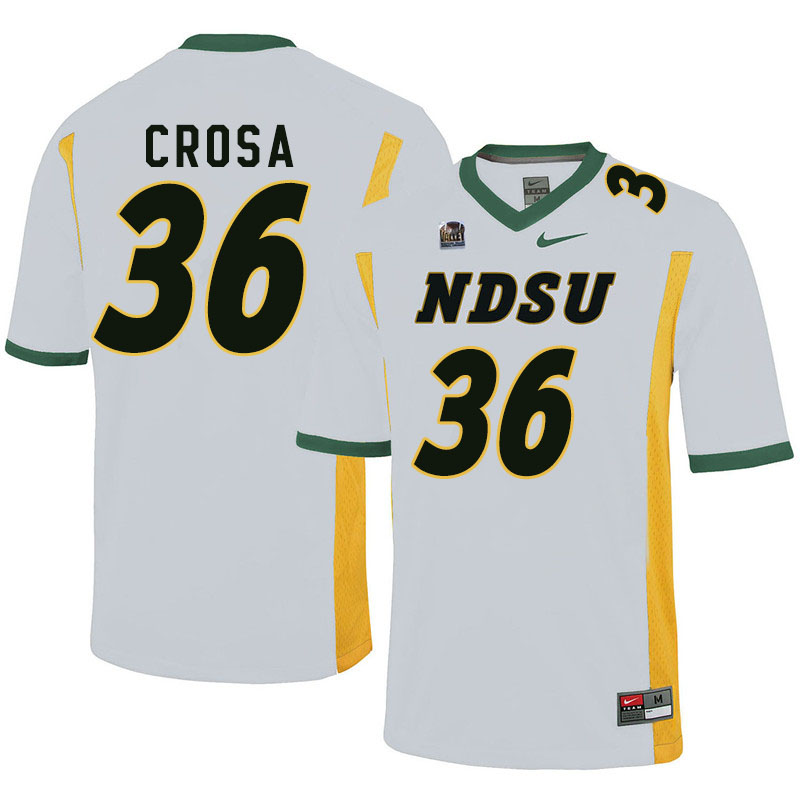 Men #36 Griffin Crosa North Dakota State Bison College Football Jerseys Sale-White