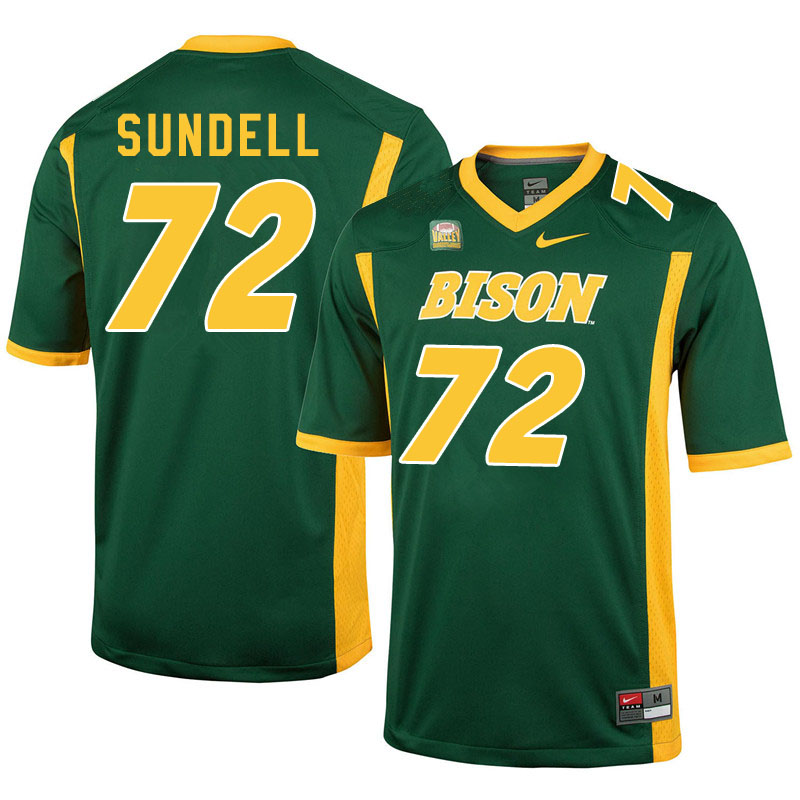 Men #72 Jalen Sundell North Dakota State Bison College Football Jerseys Sale-Green