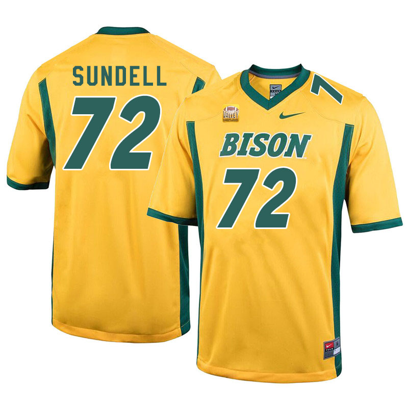 Men #72 Jalen Sundell North Dakota State Bison College Football Jerseys Sale-Yellow