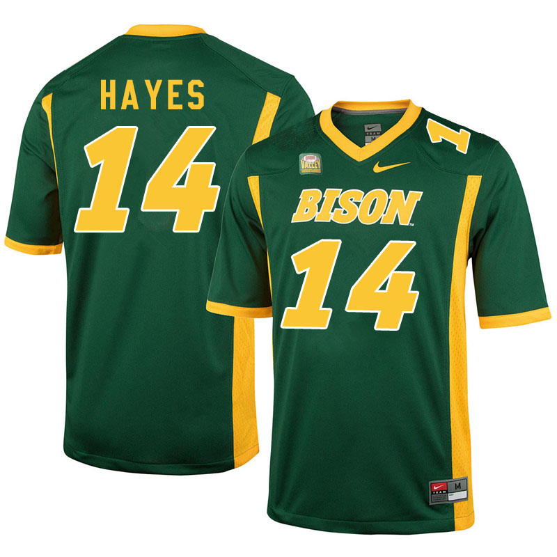 Men #14 Josh Hayes North Dakota State Bison College Football Jerseys Sale-Green