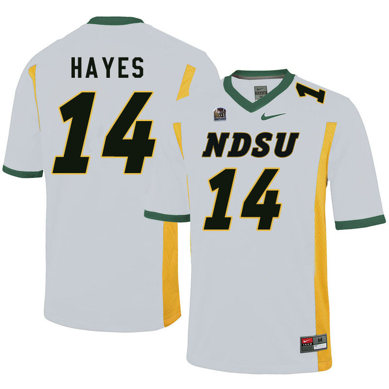 Men #14 Josh Hayes North Dakota State Bison College Football Jerseys Sale-White