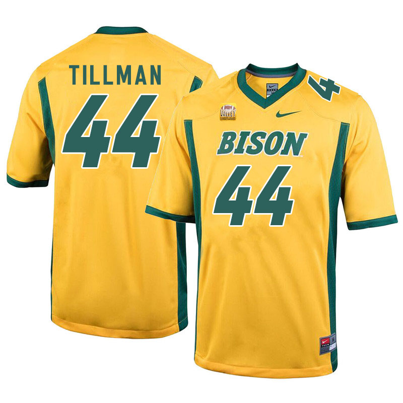 Men #44 Juanye Tillman North Dakota State Bison College Football Jerseys Sale-Yellow