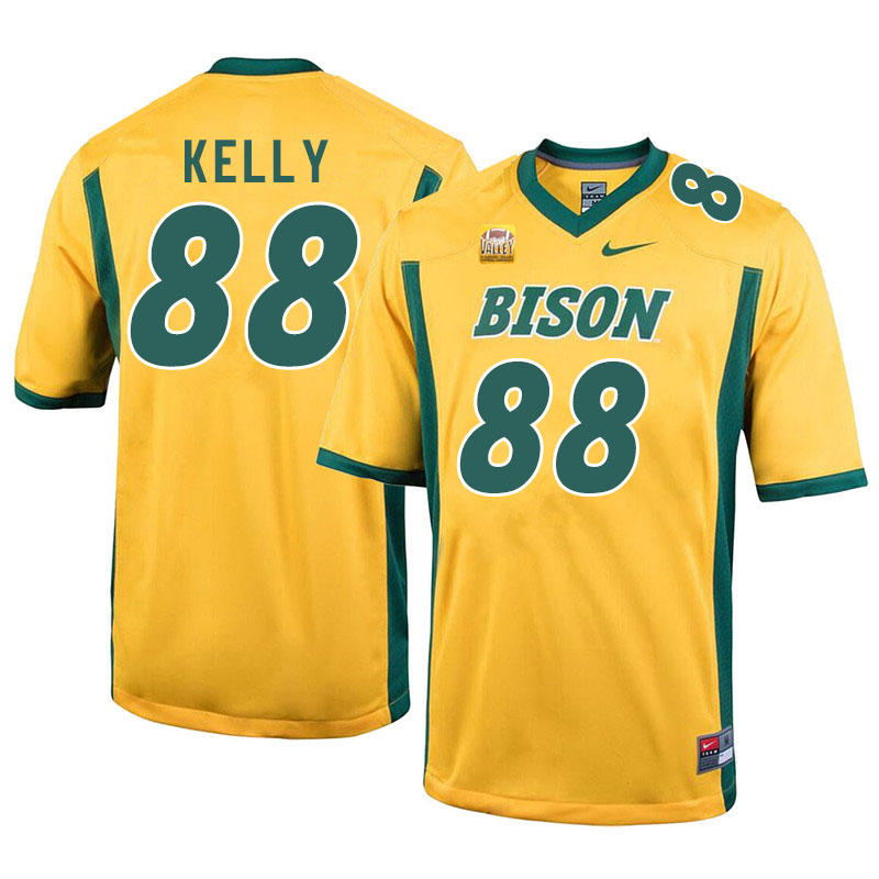 Men #88 Justice Kelly North Dakota State Bison College Football Jerseys Sale-Yellow