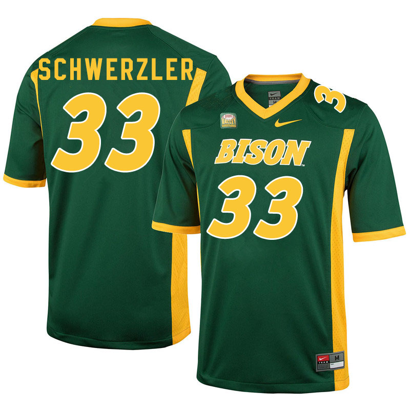 Men #33 Mason Schwerzler North Dakota State Bison College Football Jerseys Sale-Green