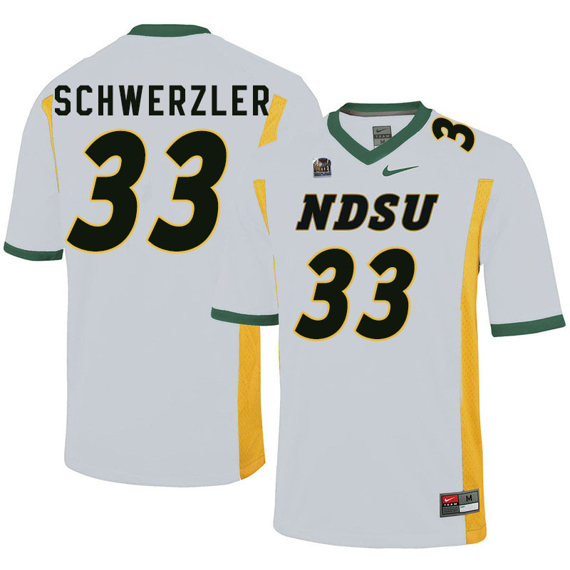 Men #33 Mason Schwerzler North Dakota State Bison College Football Jerseys Sale-White