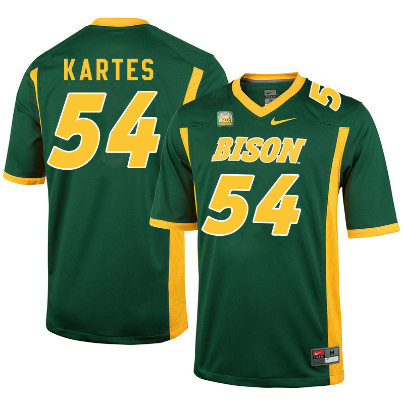 Men #54 Mitchell Kartes North Dakota State Bison College Football Jerseys Sale-Green