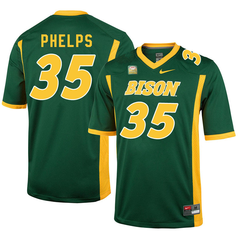 Men #35 Nick Phelps North Dakota State Bison College Football Jerseys Sale-Green