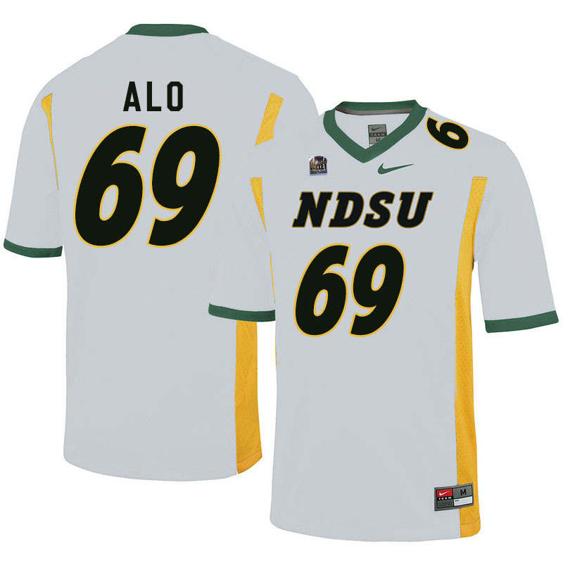 Men #69 Quinn Alo North Dakota State Bison College Football Jerseys Sale-White