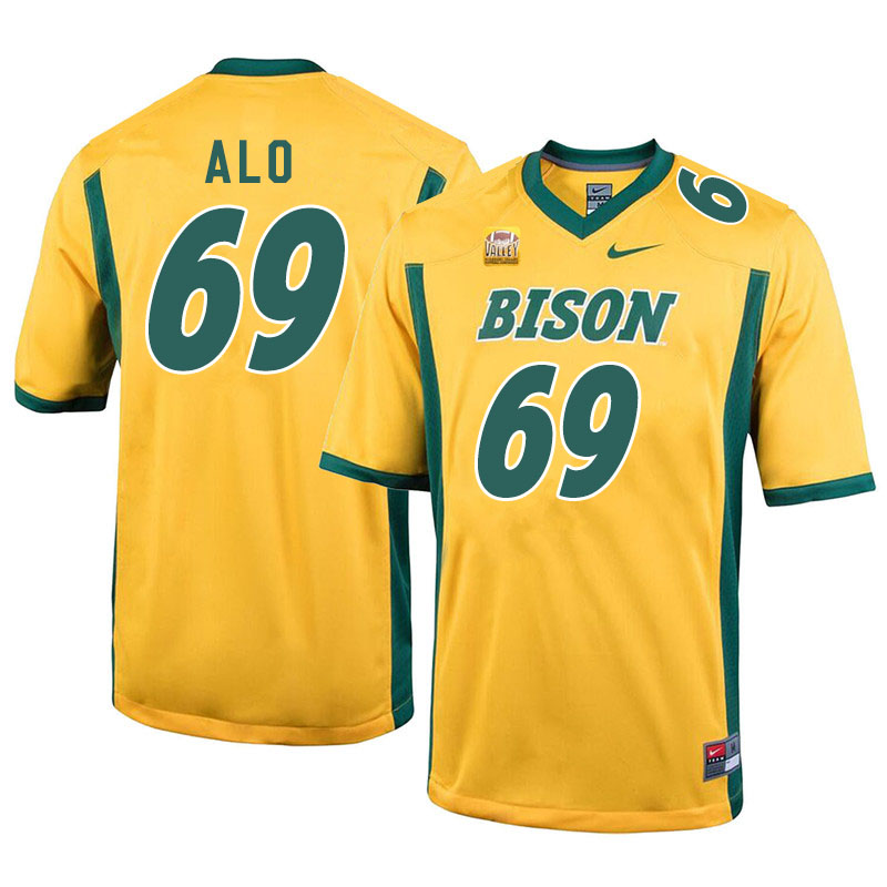 Men #69 Quinn Alo North Dakota State Bison College Football Jerseys Sale-Yellow