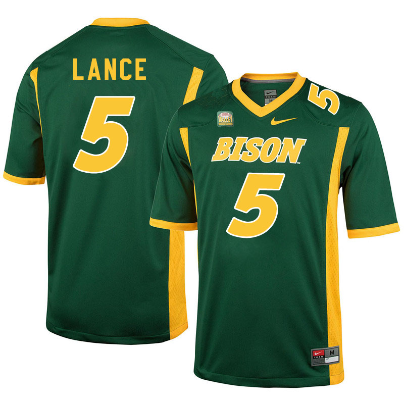 Men #5 Trey Lance North Dakota State Bison College Football Jerseys Sale-Green