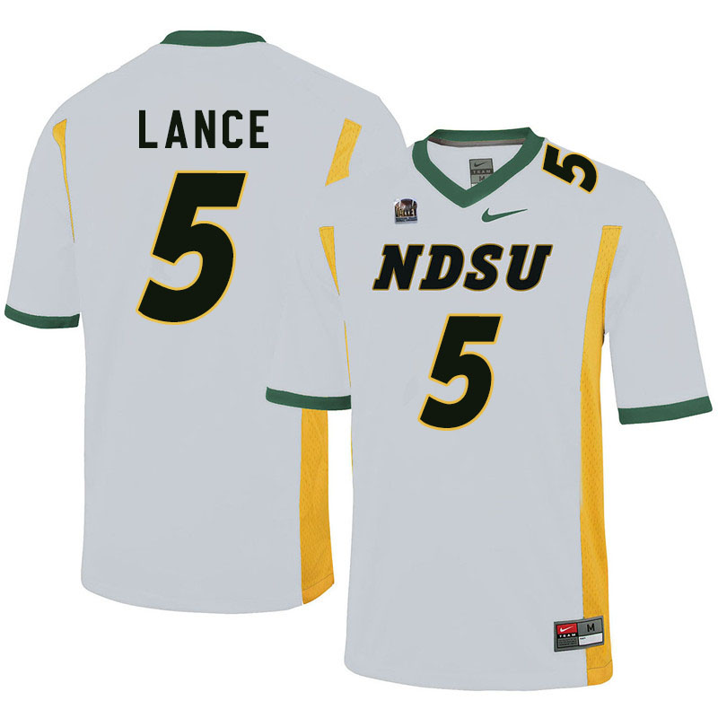 Men #5 Trey Lance North Dakota State Bison College Football Jerseys Sale-White