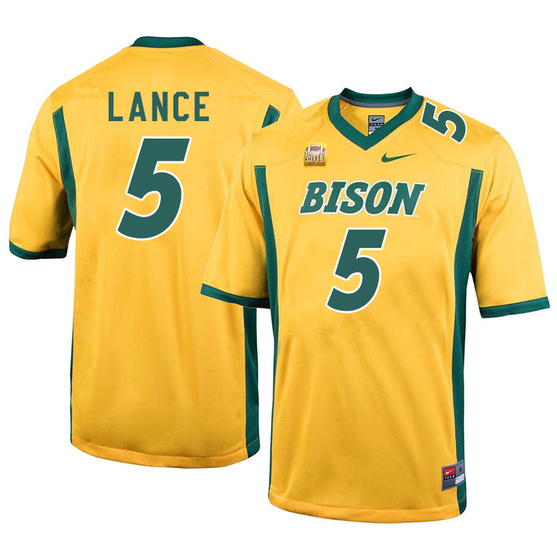 Men #5 Trey Lance North Dakota State Bison College Football Jerseys Sale-Yellow