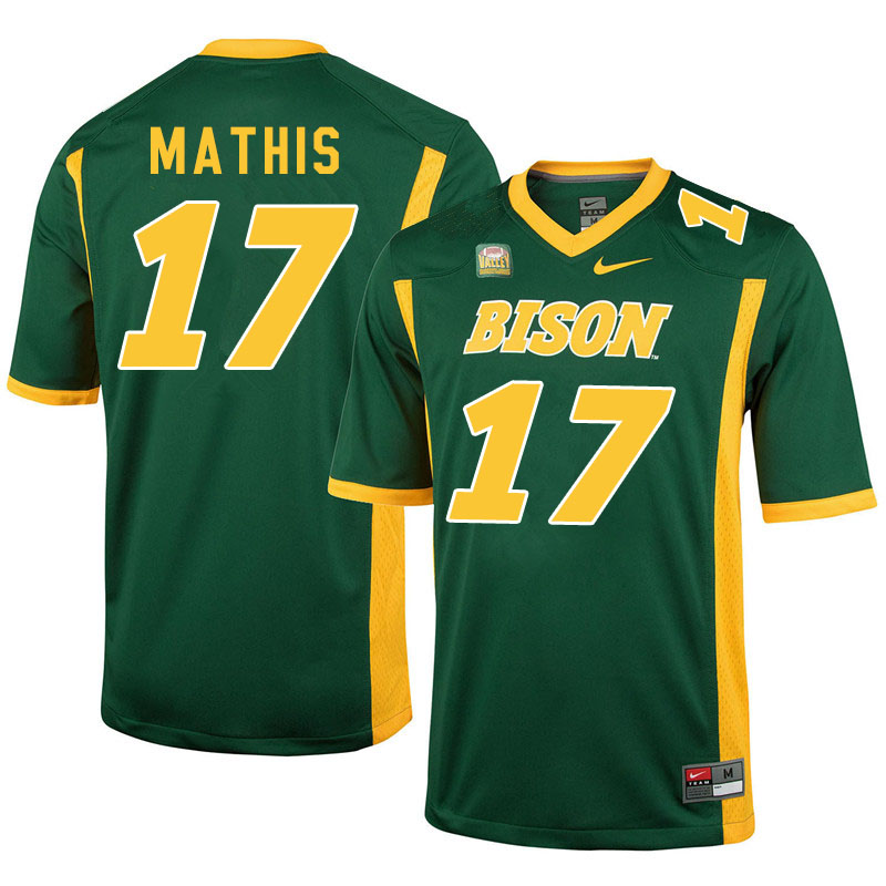 Men #17 Zach Mathis North Dakota State Bison College Football Jerseys Sale-Green