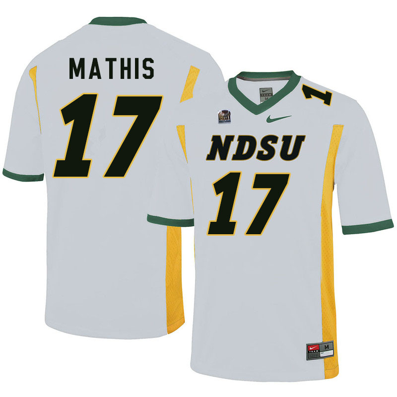Men #17 Zach Mathis North Dakota State Bison College Football Jerseys Sale-White