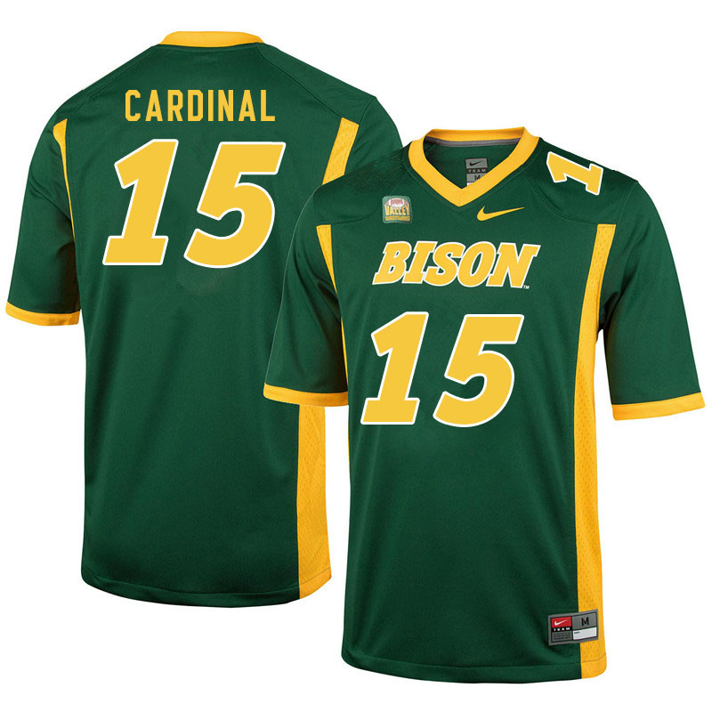 Men #15 Will Cardinal North Dakota State Bison College Football Jerseys Sale-Green