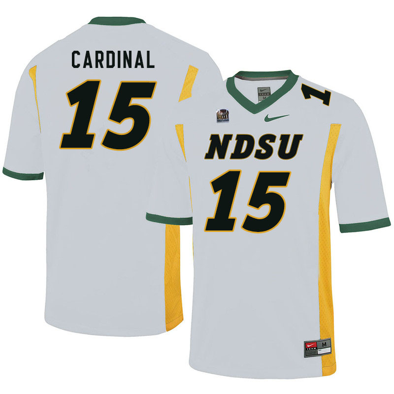 Men #15 Will Cardinal North Dakota State Bison College Football Jerseys Sale-White