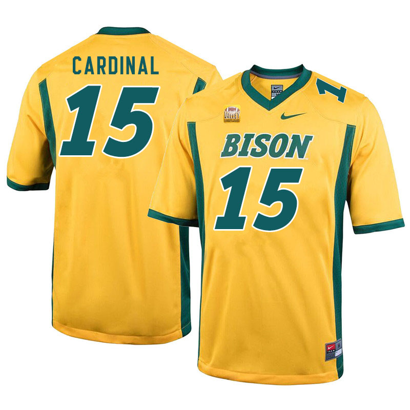 Men #15 Will Cardinal North Dakota State Bison College Football Jerseys Sale-Yellow