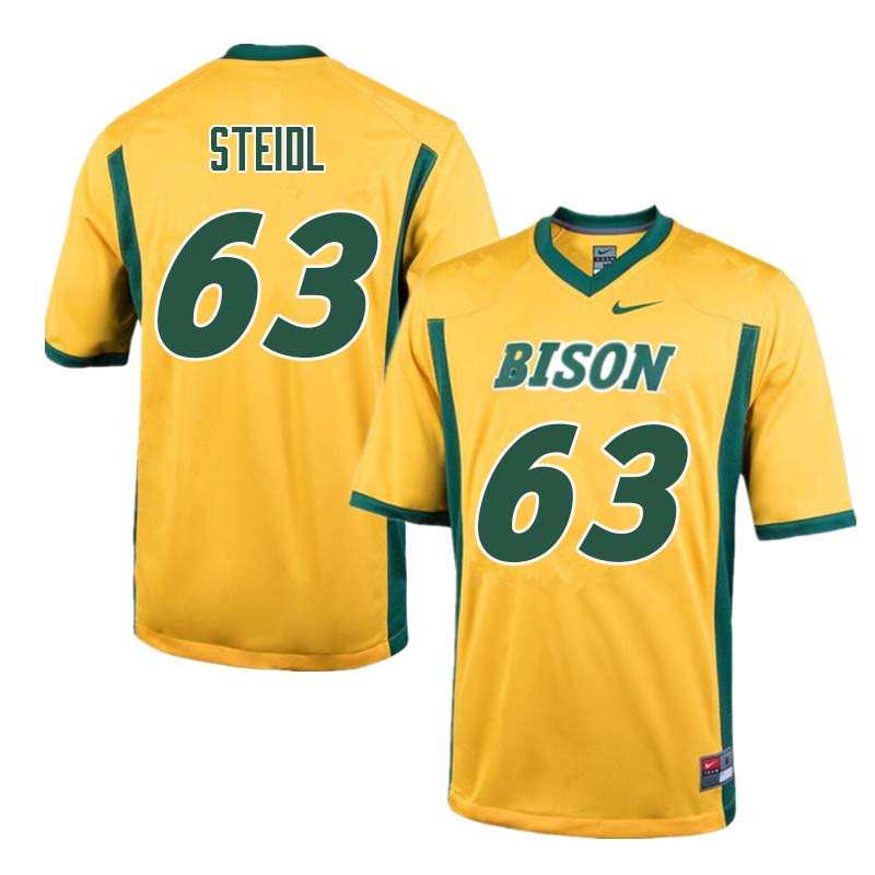 Men #63 Aaron Steidl North Dakota State Bison College Football Jerseys Sale-Yellow