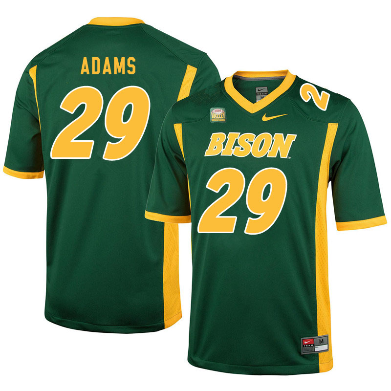Men #29 Adrian Adams North Dakota State Bison College Football Jerseys Sale-Green