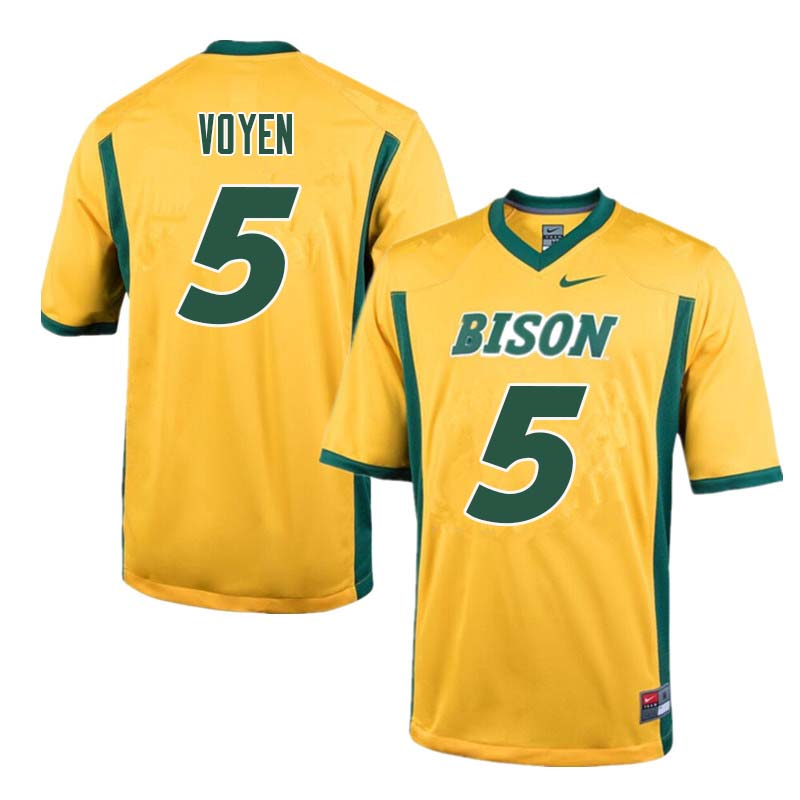 Men #5 Andy Voyen North Dakota State Bison College Football Jerseys Sale-Yellow
