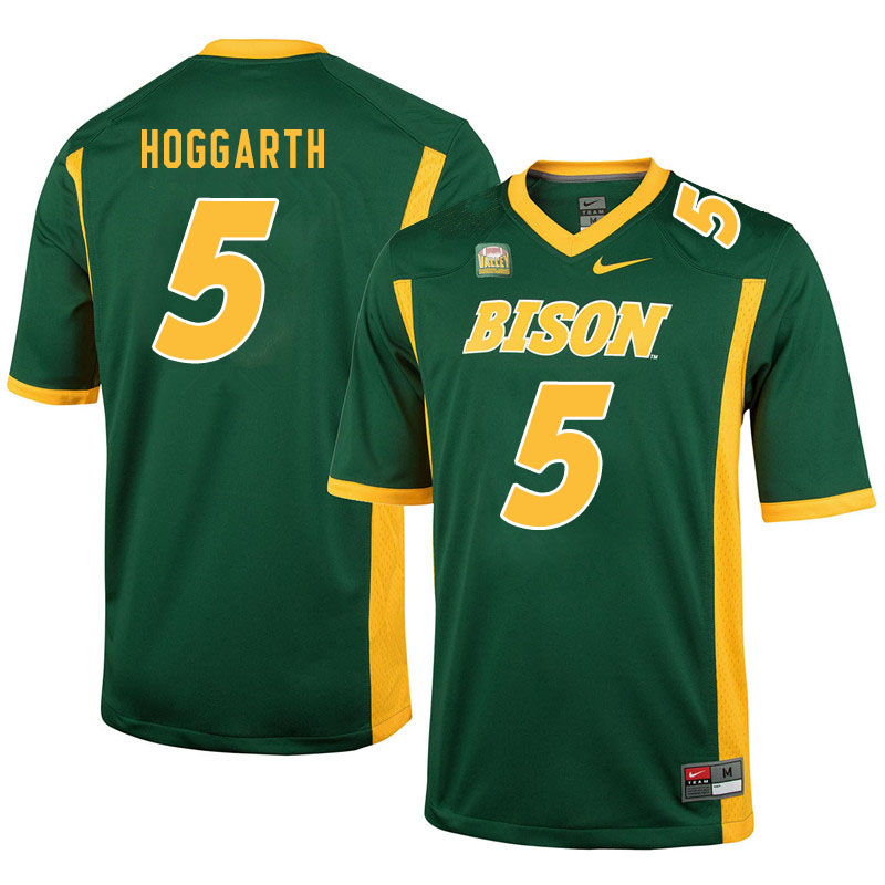 Men #5 Ben Hoggarth North Dakota State Bison College Football Jerseys Sale-Green