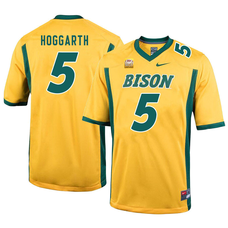 Men #5 Ben Hoggarth North Dakota State Bison College Football Jerseys Sale-Yellow
