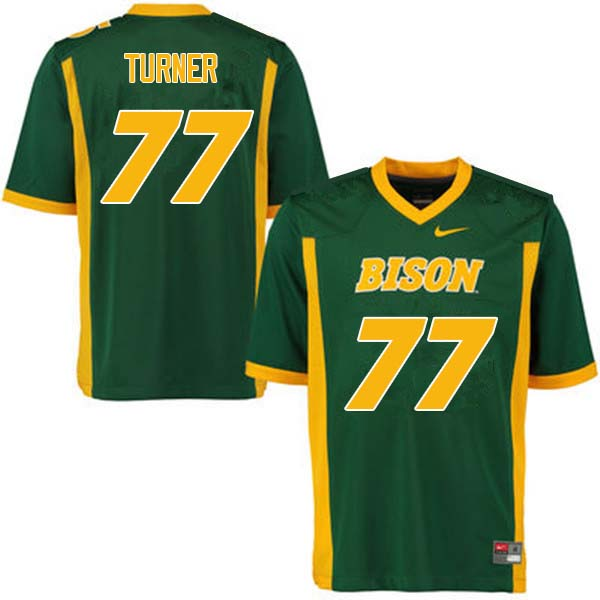 Men #77 Billy Turner North Dakota State Bison College Football Jerseys Sale-Green