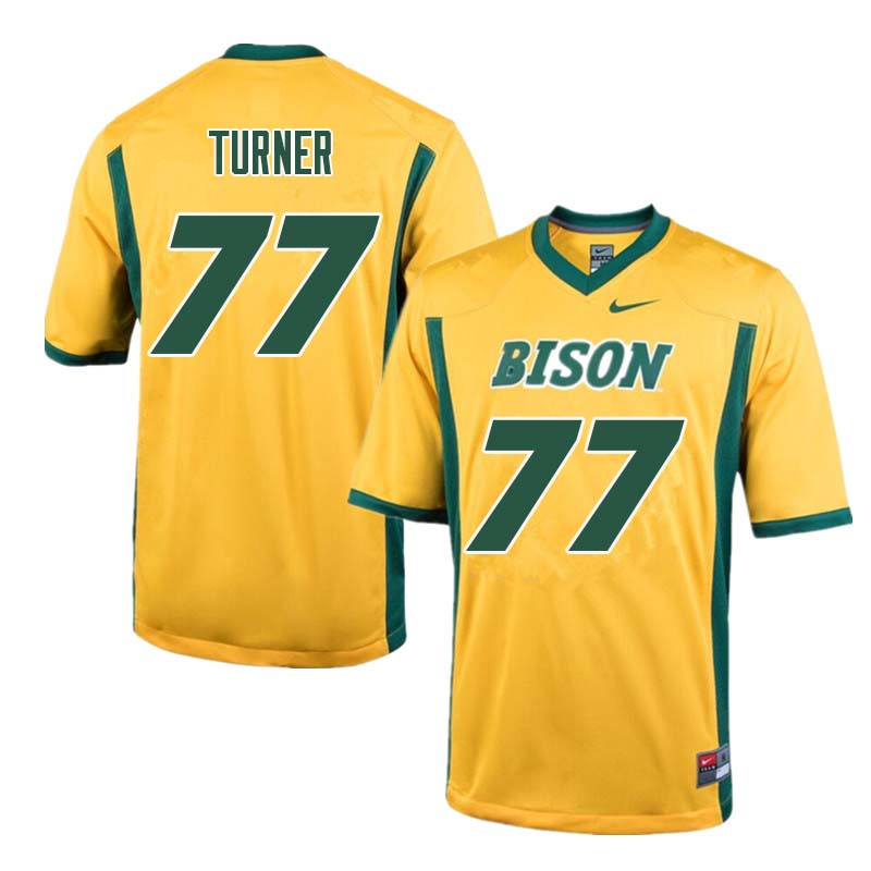 Men #77 Billy Turner North Dakota State Bison College Football Jerseys Sale-Yellow