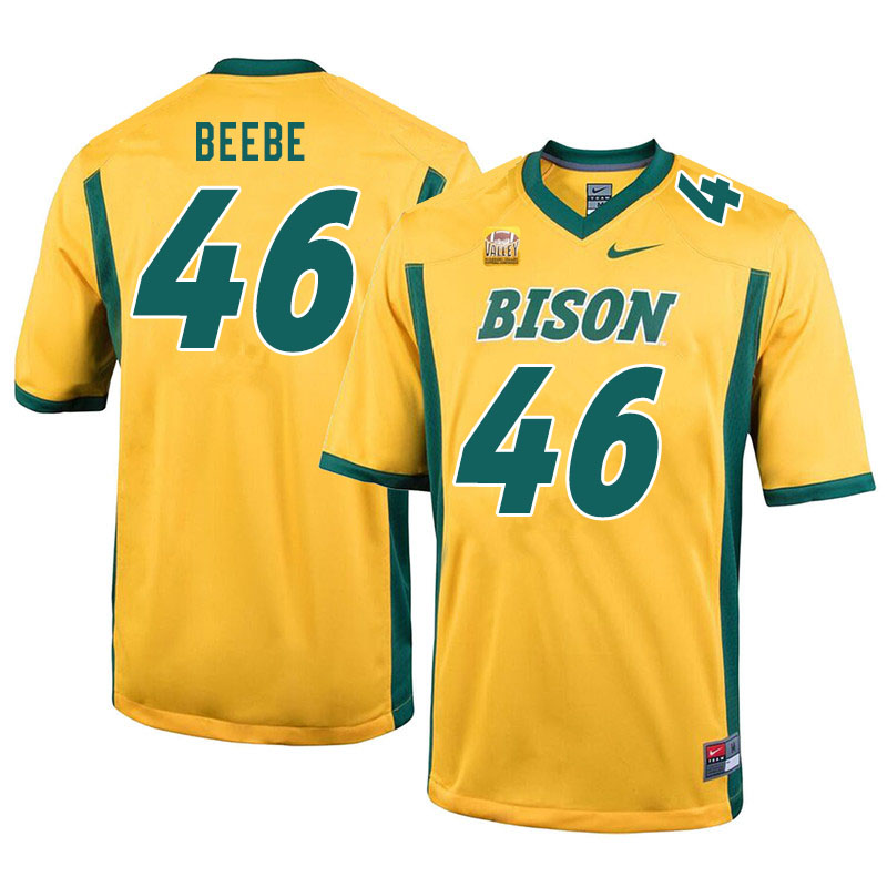 Men #46 Caleb Beebe North Dakota State Bison College Football Jerseys Sale-Yellow