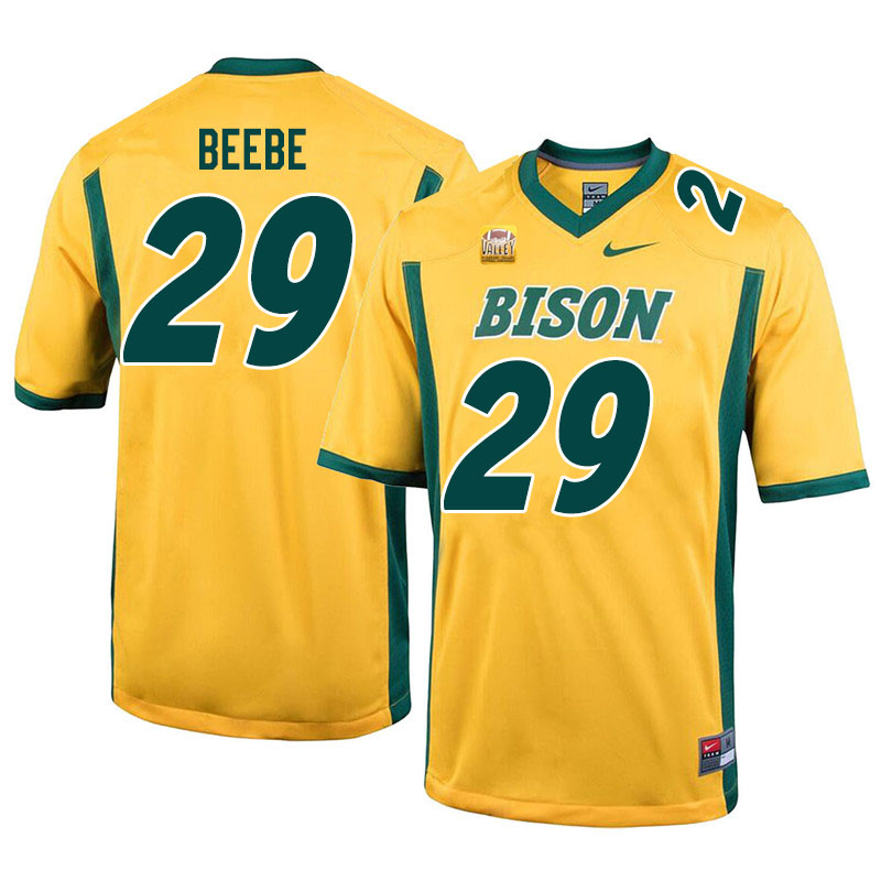 Men #29 Caleb Beebe North Dakota State Bison College Football Jerseys Sale-Yellow