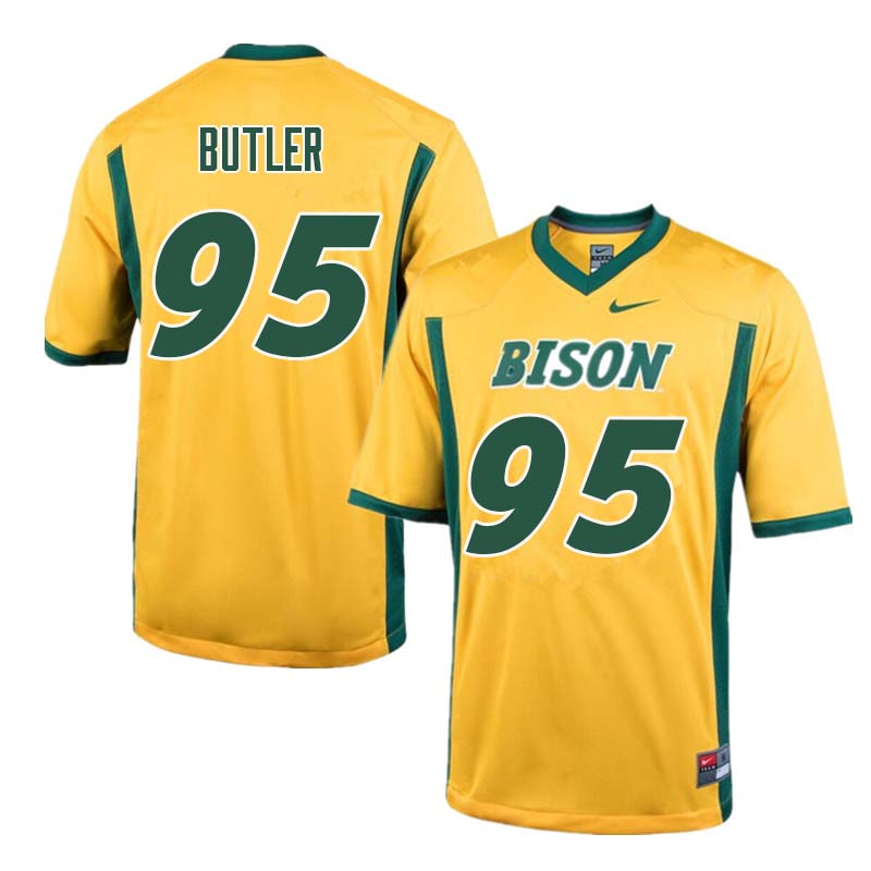 Men #95 Caleb Butler North Dakota State Bison College Football Jerseys Sale-Yellow