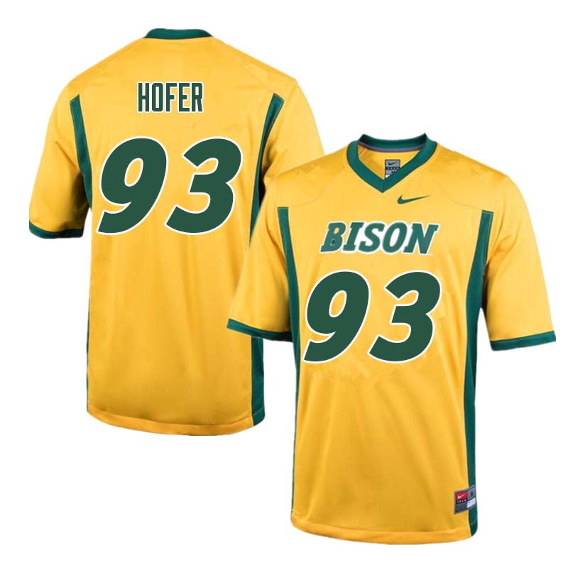 Men #93 Caleb Hofer North Dakota State Bison College Football Jerseys Sale-Yellow