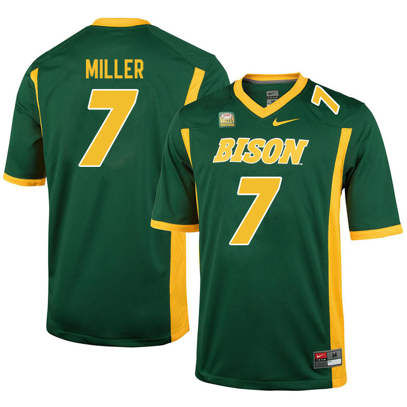 Men #7 Cam Miller North Dakota State Bison College Football Jerseys Sale-Green