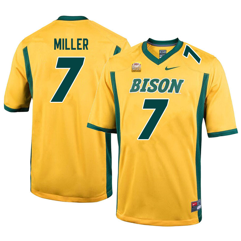 Men #7 Cam Miller North Dakota State Bison College Football Jerseys Sale-Yellow