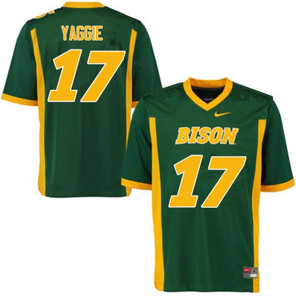 Men #17 Carson Yaggie North Dakota State Bison College Football Jerseys Sale-Green