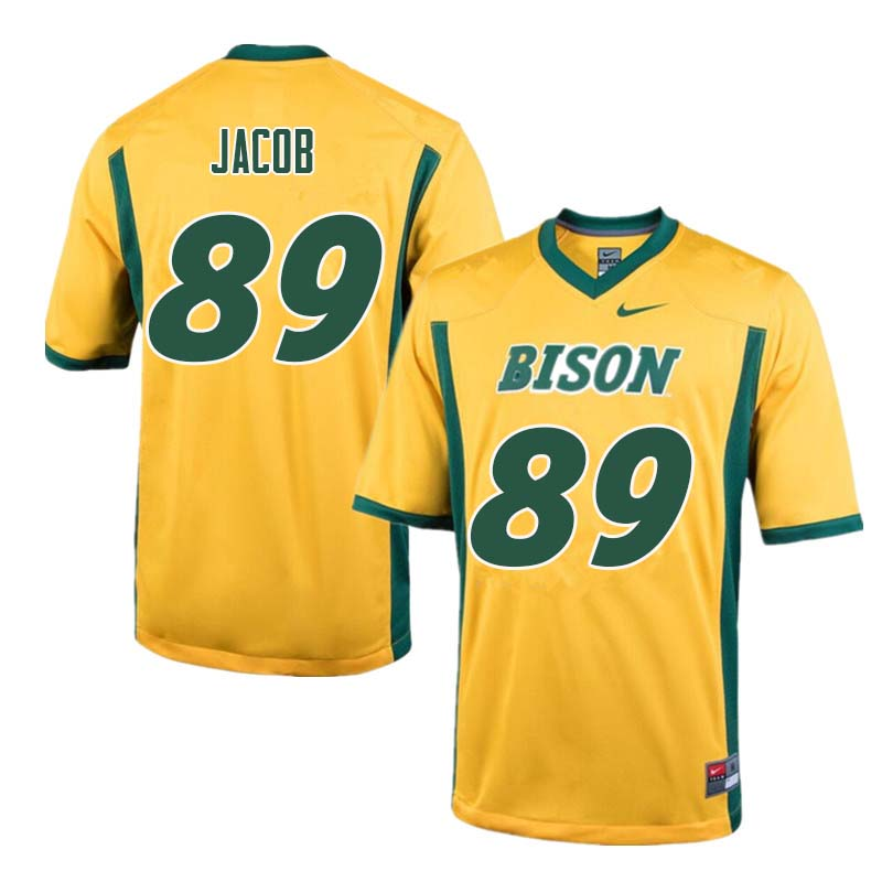 Men #89 Cole Jacob North Dakota State Bison College Football Jerseys Sale-Yellow