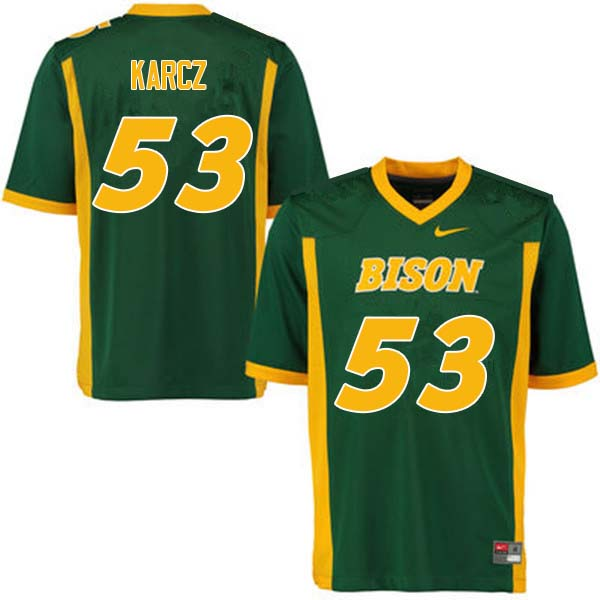 Men #53 Cole Karcz North Dakota State Bison College Football Jerseys Sale-Green