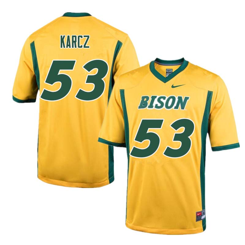 Men #53 Cole Karcz North Dakota State Bison College Football Jerseys Sale-Yellow